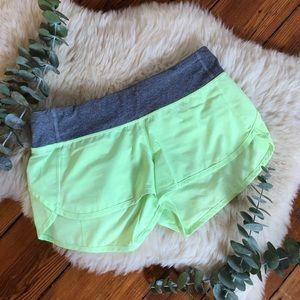Lululemon💕Clear Mint Gray Speed Running Shorts 6